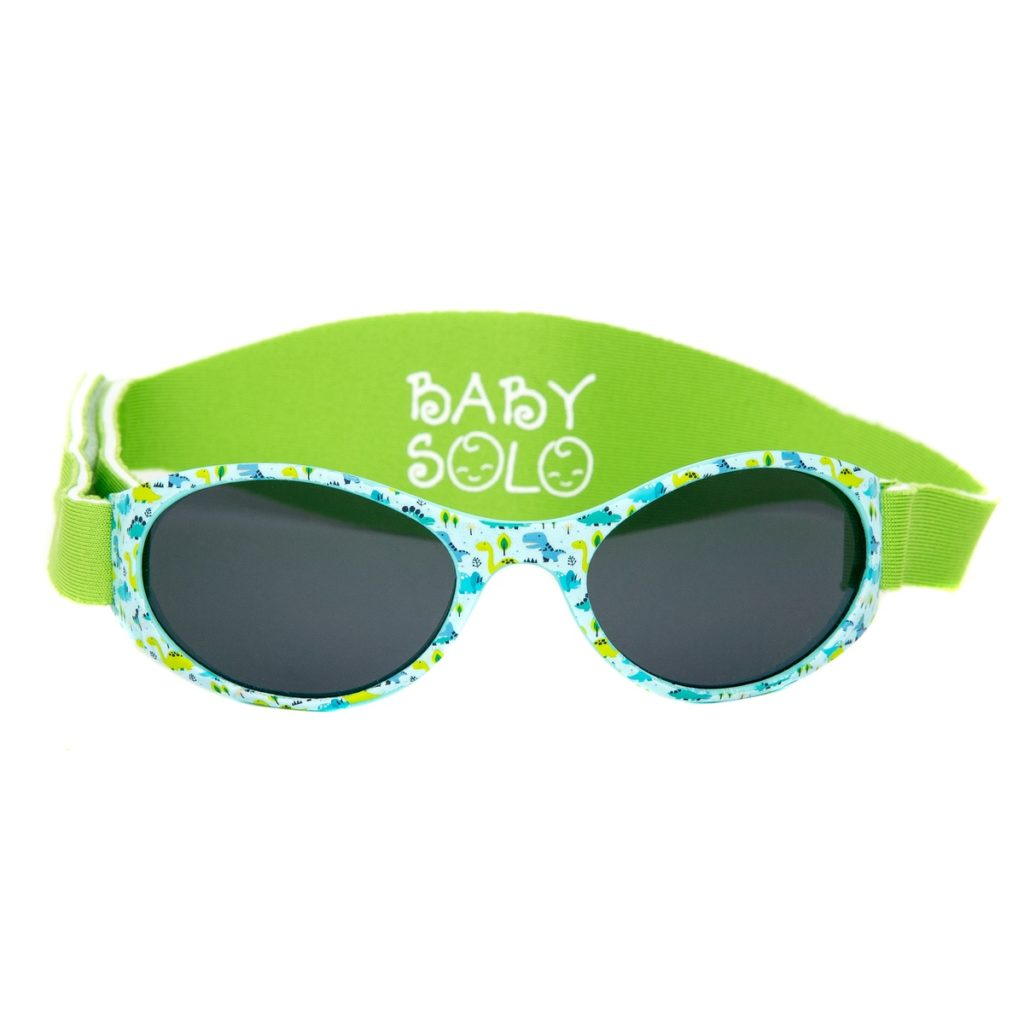 Baby Solo Sunglasses Dino Dance Frame w/ Solid Black Lens