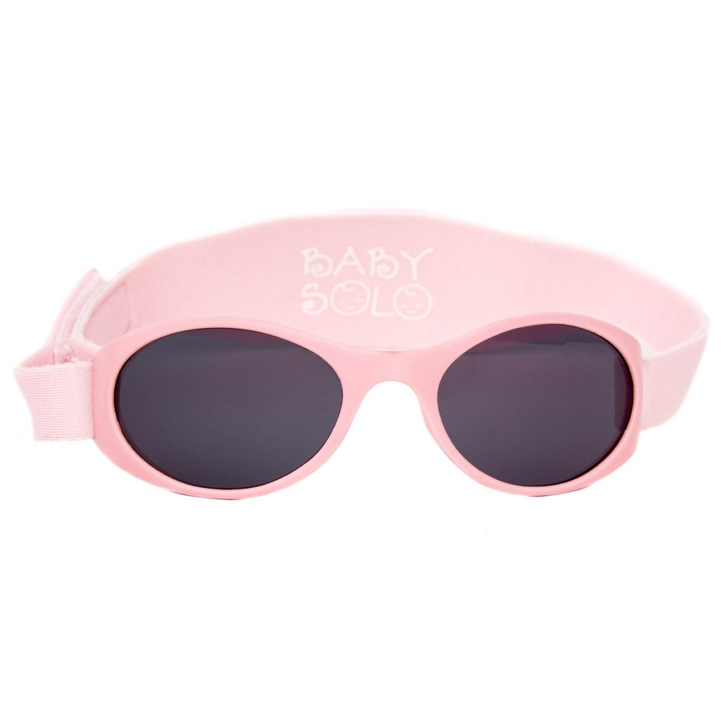 Baby Solo Sunglasses Matte Pink Frame w/ Solid Black Lens