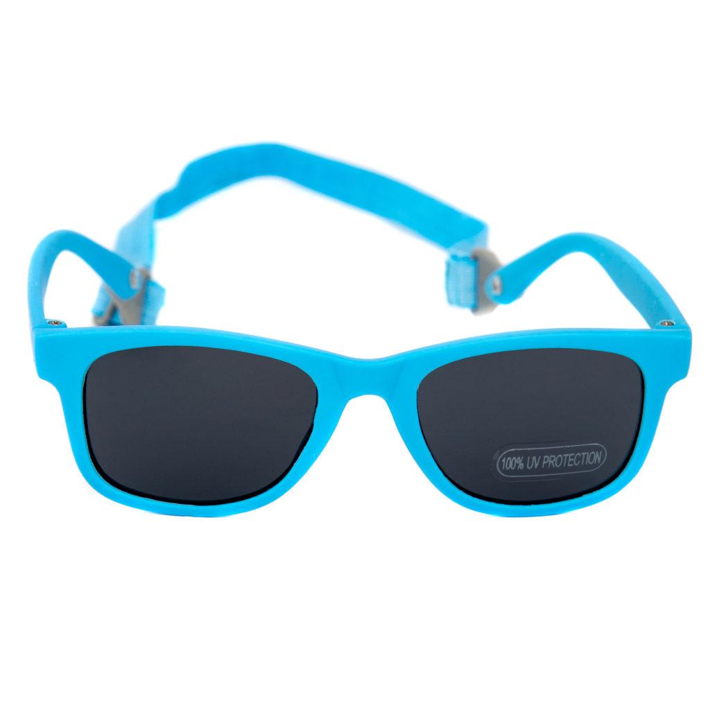 Baby Solo Babyfarer Sunglasses Matte Black Blue w: Solid Black Lens