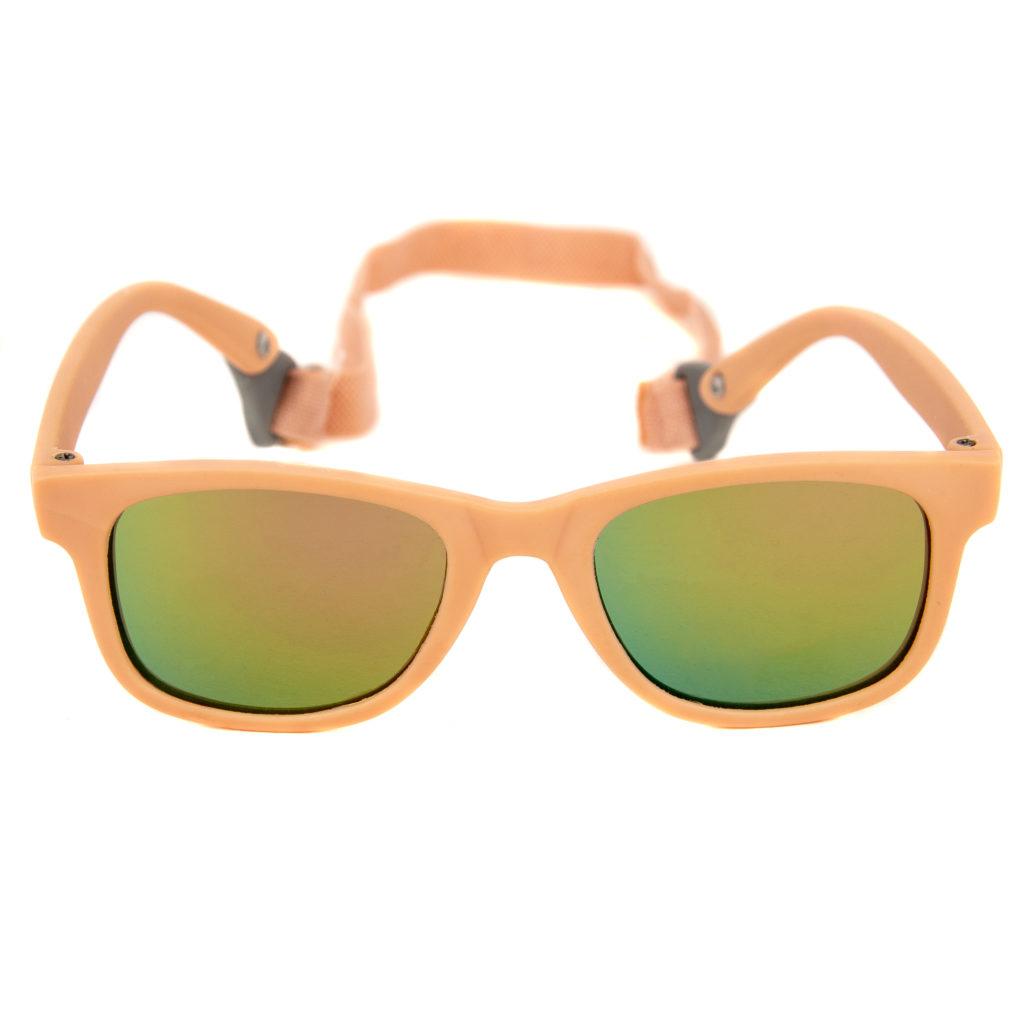 Baby Solo Babyfarer Sunglasses Matte Pink w: Rose Gold Mirror Lens
