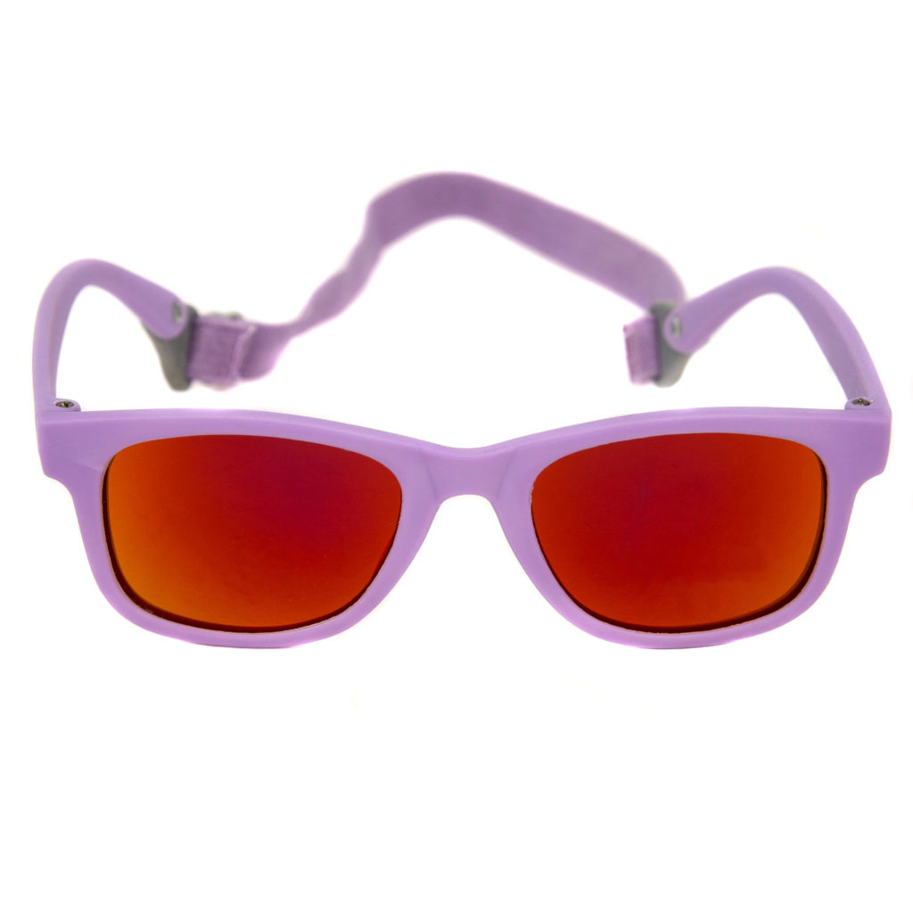 Baby Solo Babyfarer Sunglasses Matte Violet w- Orange Mirror Lens