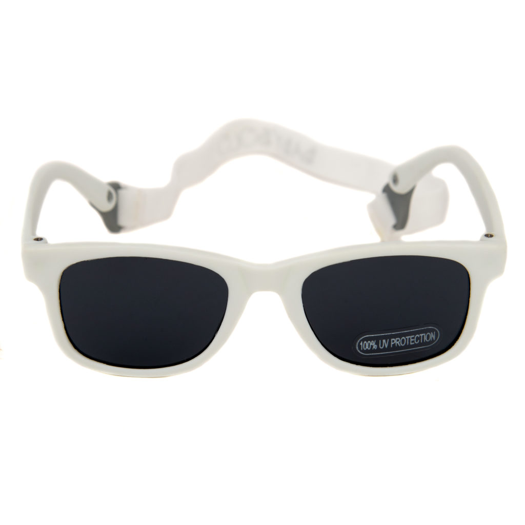 Baby Solo Babyfarer Sunglasses White w: Black Lens