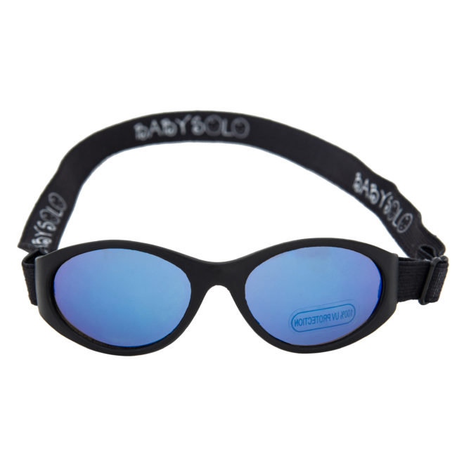 Baby Solo Original 2.0 Small Baby Sunglasses Matte Black w: Blue Mirror
